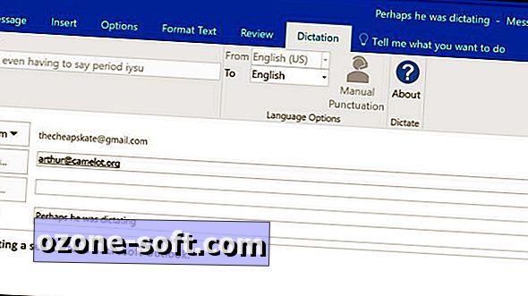 Diktovat e-mailové zprávy v aplikaci Microsoft Outlook none Windows 7/8/10 Mac OS