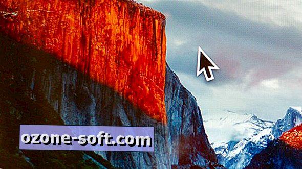 Susigręžkite, kad surastumėte žymeklį OS X El Capitan