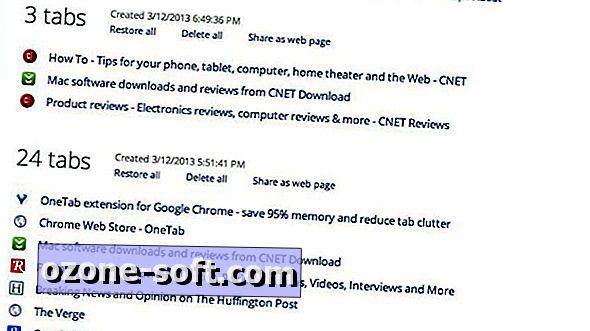 Mälu ja meelerahu salvestamiseks teisendage Chrome'i vahekaardid loendisse