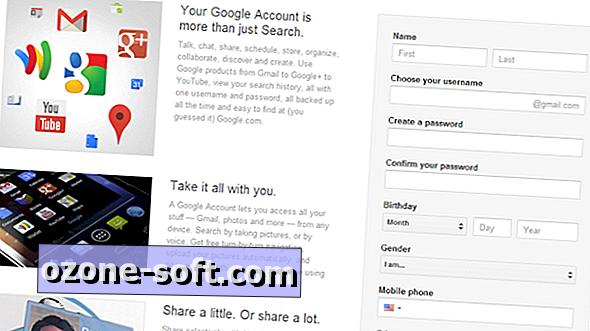 Új Google-fiók létrehozása Google+ nélkül