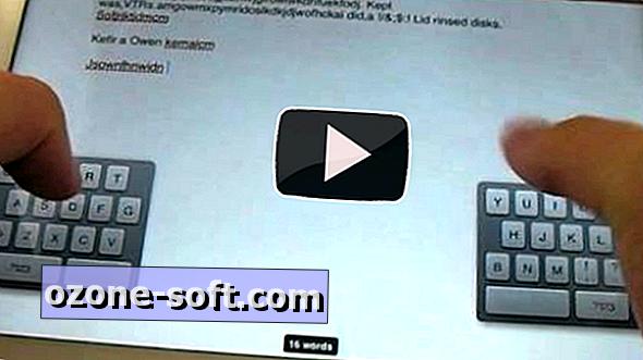 Az iPad osztott billentyűzetének használata az iOS 5 rendszeren