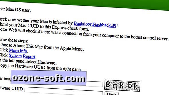 Webværktøjet kontrollerer, om din Mac er Flashback-fri