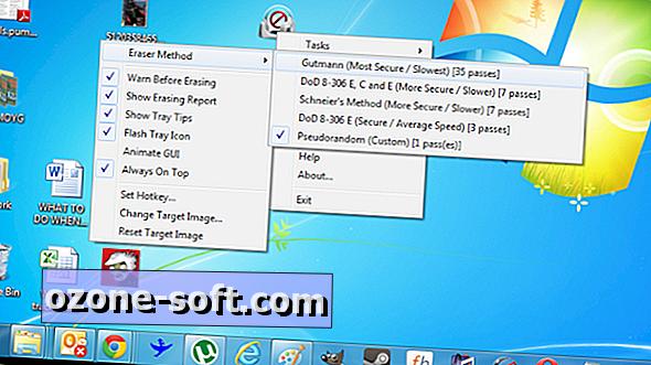 EraserDrop ile kalıcı olarak silmek için dosyaları sürükleyip bırakın