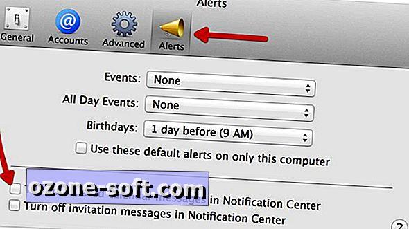 Izklopite sporočila v skupnem koledarju iCal v centru za obvestila