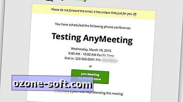 E-mail küldése, egy konferenciahívás ütemezése az AnyMeeting segítségével
