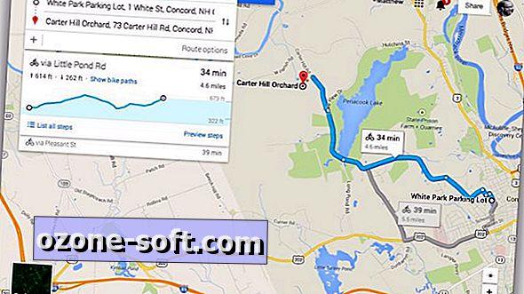 Uzyskaj informacje o elewacji tras rowerowych w Mapach Google
