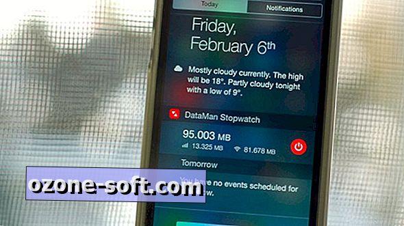 Koristite DataMan Štoperica iPhone widget za praćenje podataka o korištenju