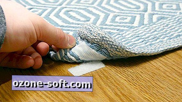 Befestigen Sie einen Teppich mit einem Klettverschluss, damit er nicht verrutschen kann